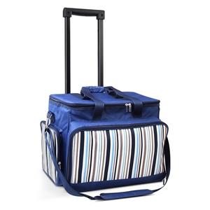 Alfresco 6 Person Picnic Bag Trolley Set