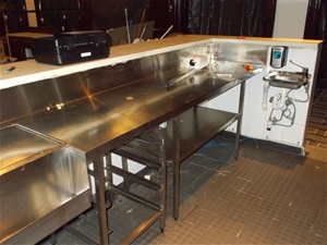 Bar Counter And Stainless Steel Sink