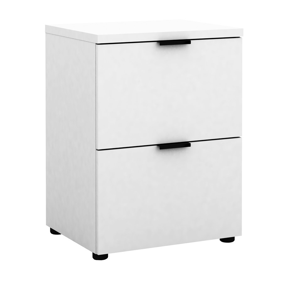 Rico 2 Drawer Filing Cabinet - White