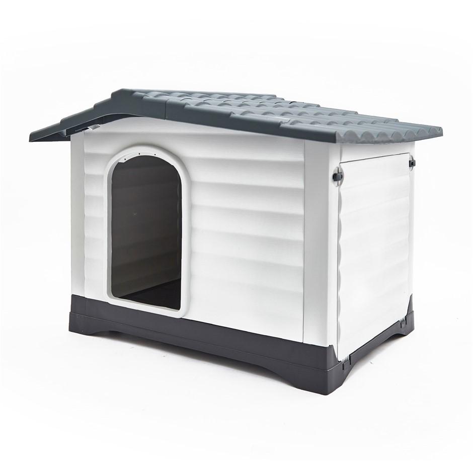 Plastic Dog Kennel MOLLY XXL - BLUE 111 x 84 x 80.5cm