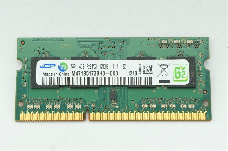 Samsung 4GB DDR3 PC3-12800S SO-DIMM Double-Sided 8-Chip Memory Module