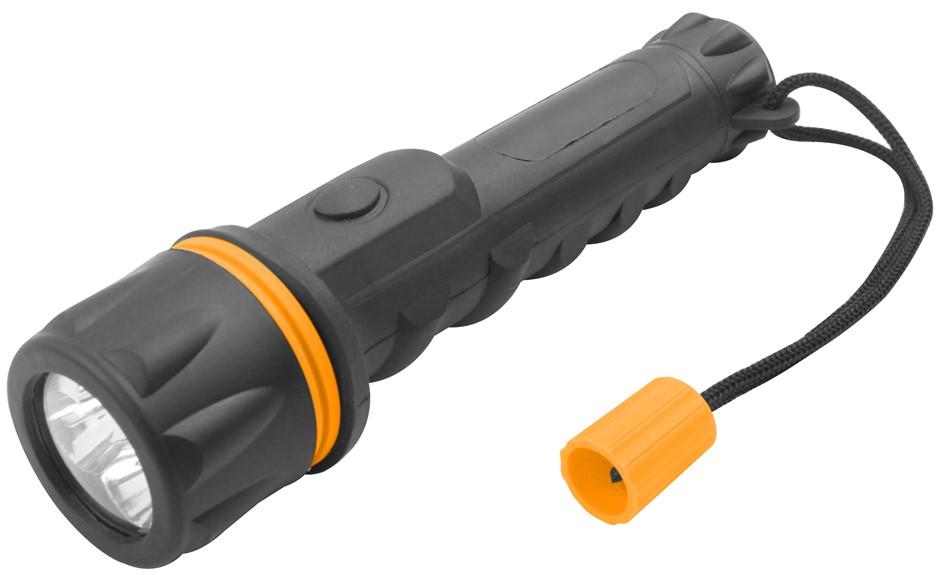 6 x TOLSEN LED Flashlight Torches Waterproof IP62, PP & PVC Body 150mm Leng