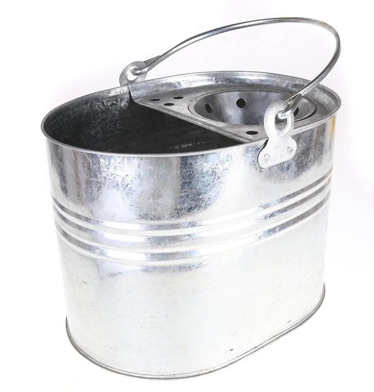 3 x Galvanized Mop Buckets, 10Ltr. (SN:CW2957) (268035-114)
