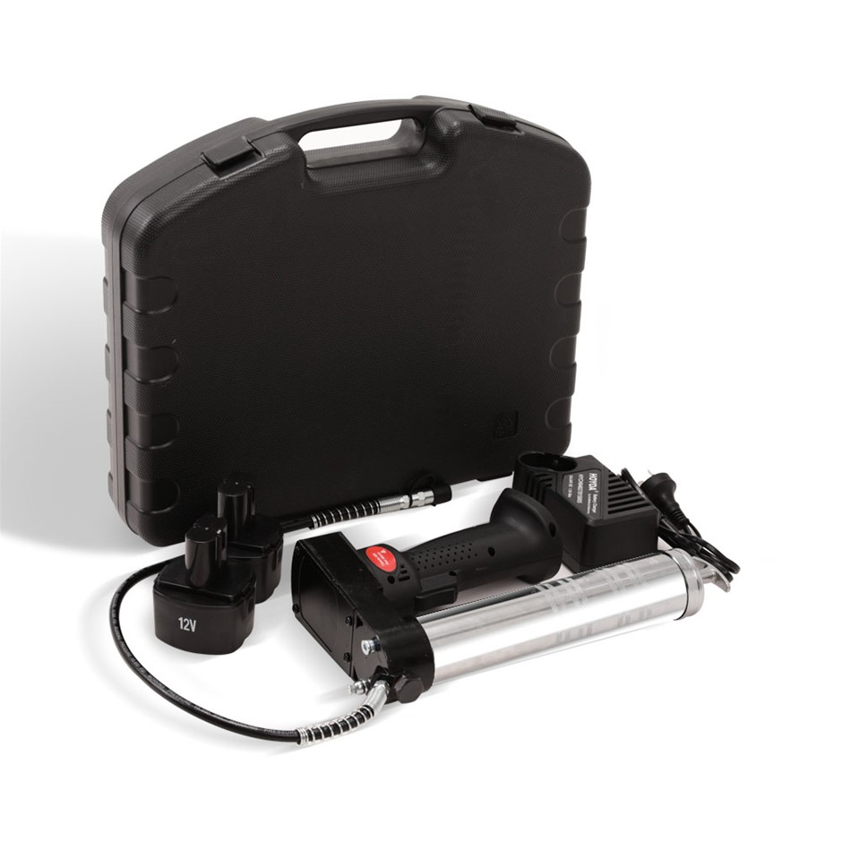 Giantz 12V Rechargeable Cordless Grease Gun - Black