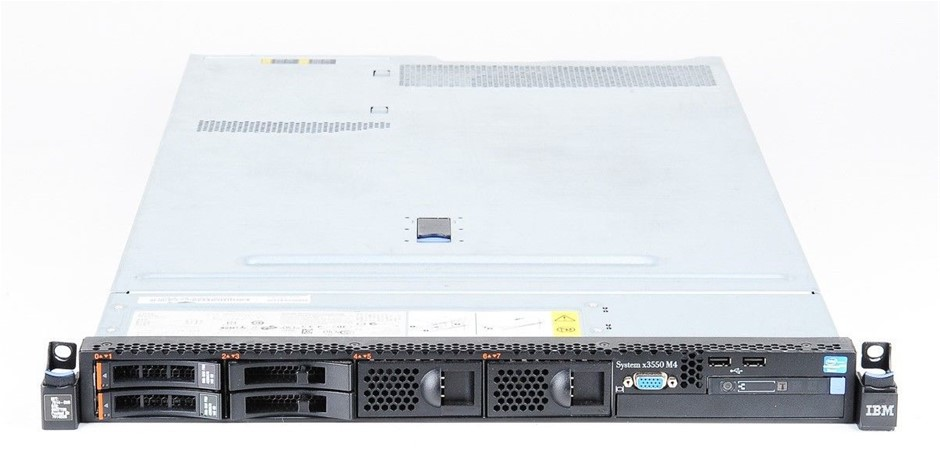 IBM X3550 M4 Rackmount Server 16-Cores 256GB RAM 1.2TB Storage
