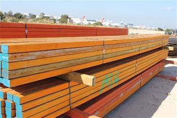 Bundle of Construction timber form work  Tru Form structural lam