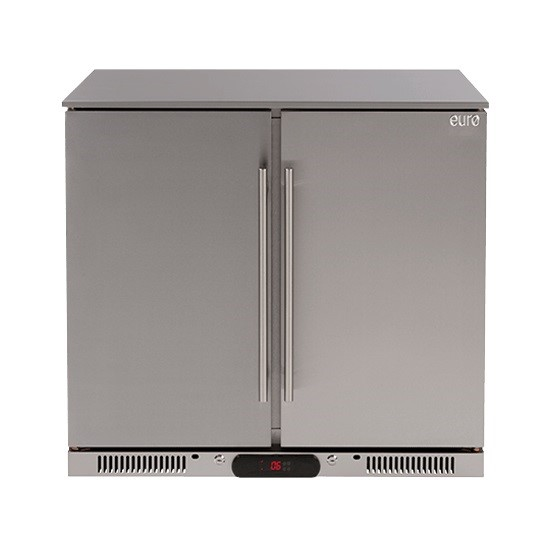 Euro Appliances EA90SDSX - 208L Double Solid Doors S/Steel Beverage Cooler