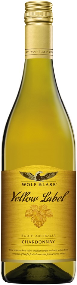 Wolf Blass `Yellow Label` Chardonnay 2017 (6 x 750mL), SA.