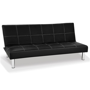 Chelsea 3 Seater Faux Leather Sofa Bed C