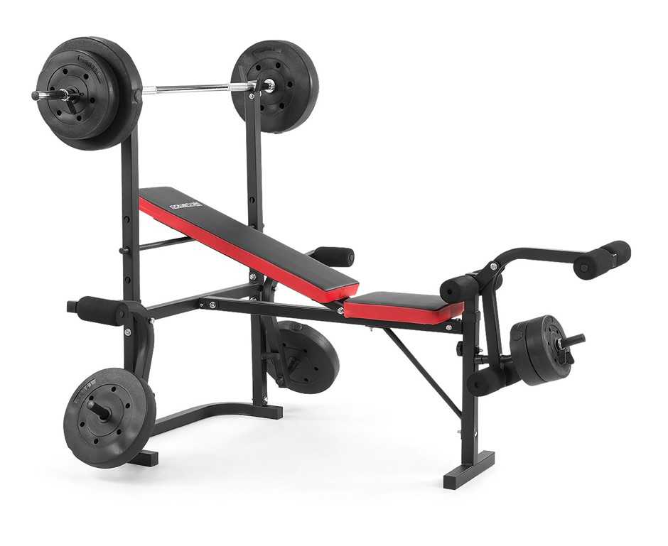 Powertrain Home Gym bench press multi gym with 100 lbs weights
