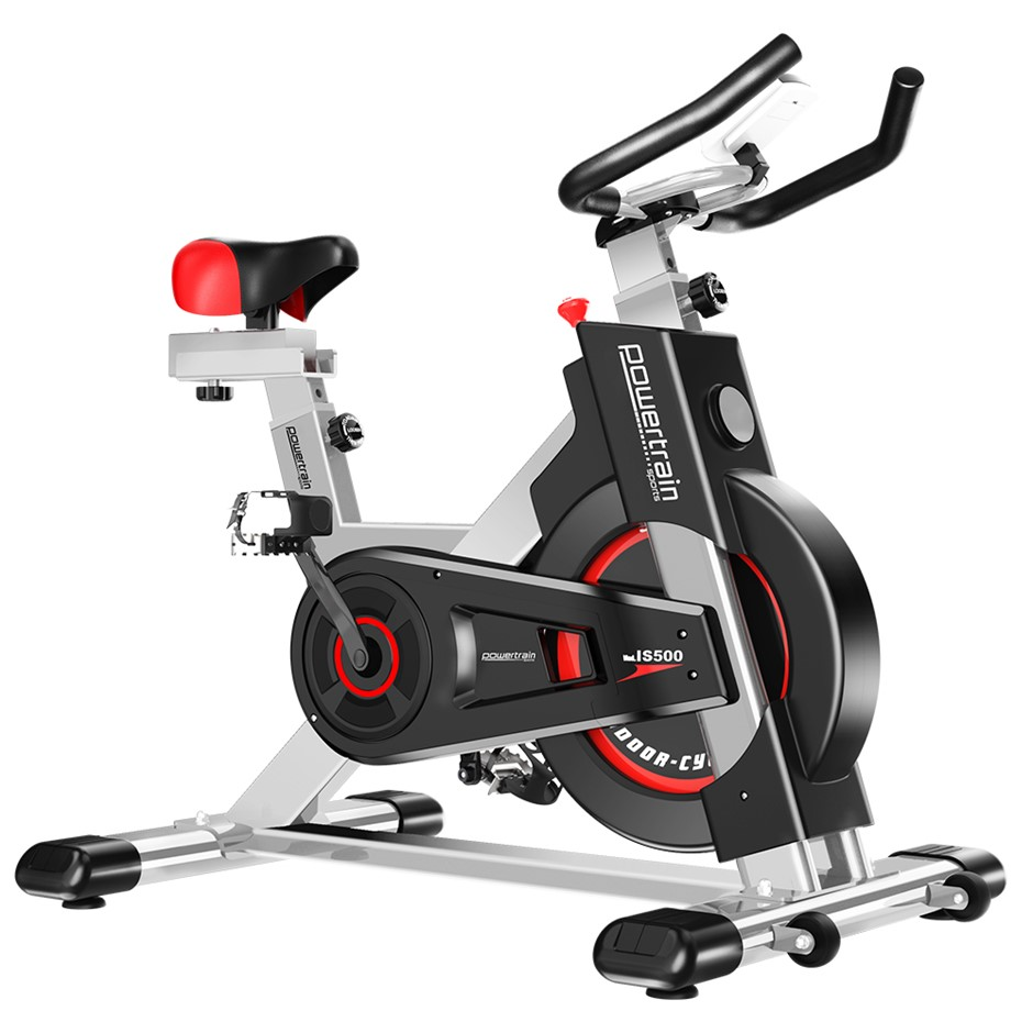 Powertrain Heavy Duty Exercise Spin Bike Electroplated - Silver