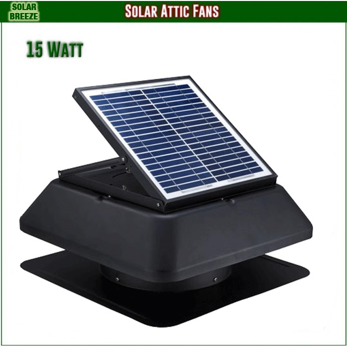 Unused Solar Breeze 1415S Solar Roof Ventilation Fan