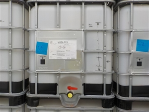 Empty IBC (contained SCS-170 epoxy resin for fibreglass)
