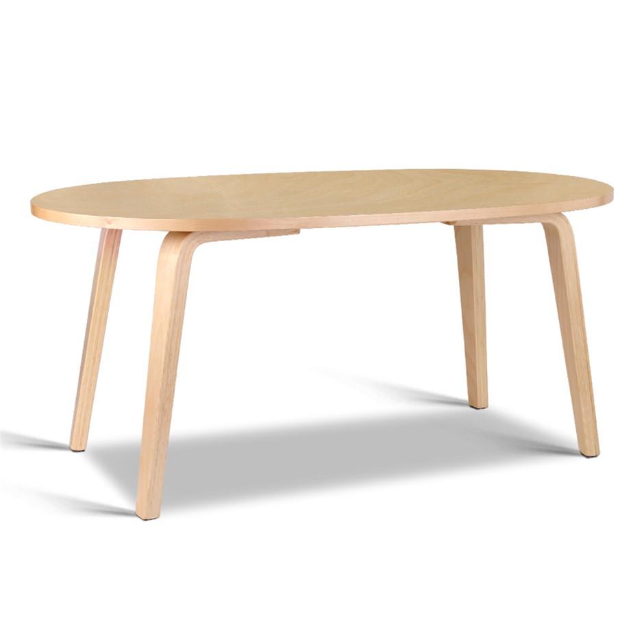 Artiss Wooden Coffee Table Beige