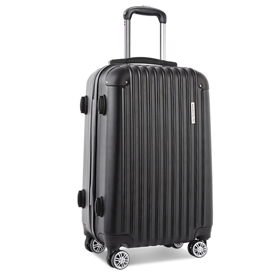 Wanderlite 28inch Lightweight Hard Suit Case - Black