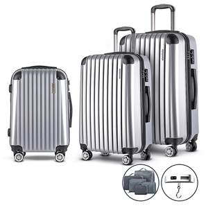 Wanderlite 3 Piece Luggage Suitcase Trol