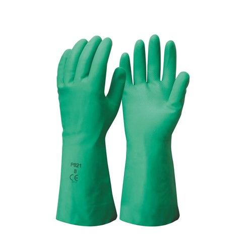 24 Pairs x Nitrile Chemical Gloves, Size S, 33cm Arm Protection, Textured P