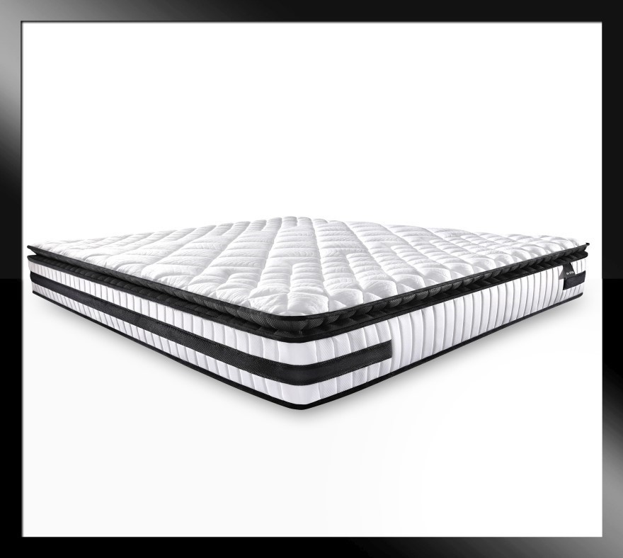 Atlas Black - Cold Foam Pillow Top Mattress with Firm Edge, Queen size