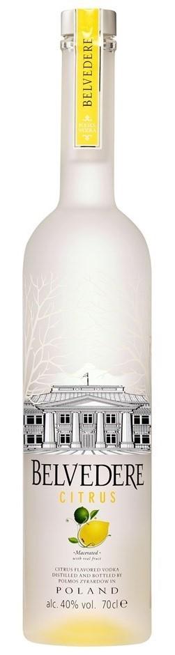 Belvedere Citrus Vodka (6 x 700mL), Poland.