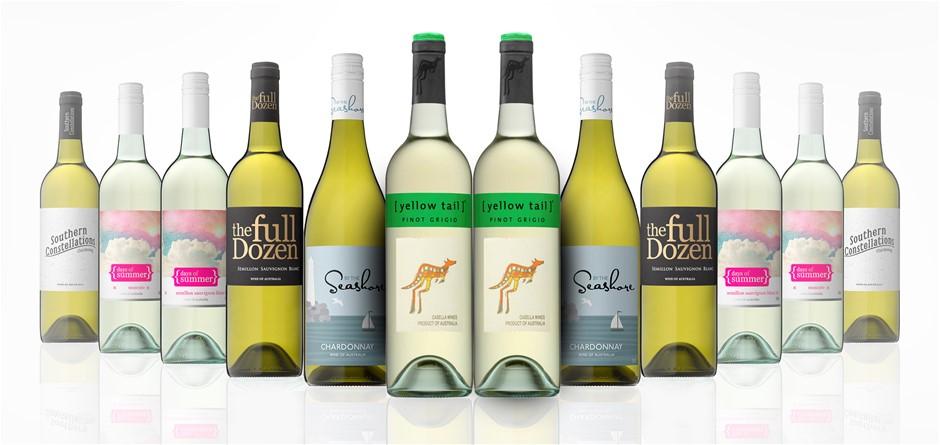 Australian Mixed White Wine Carton Featuring Yellowtail Pinot Grigio