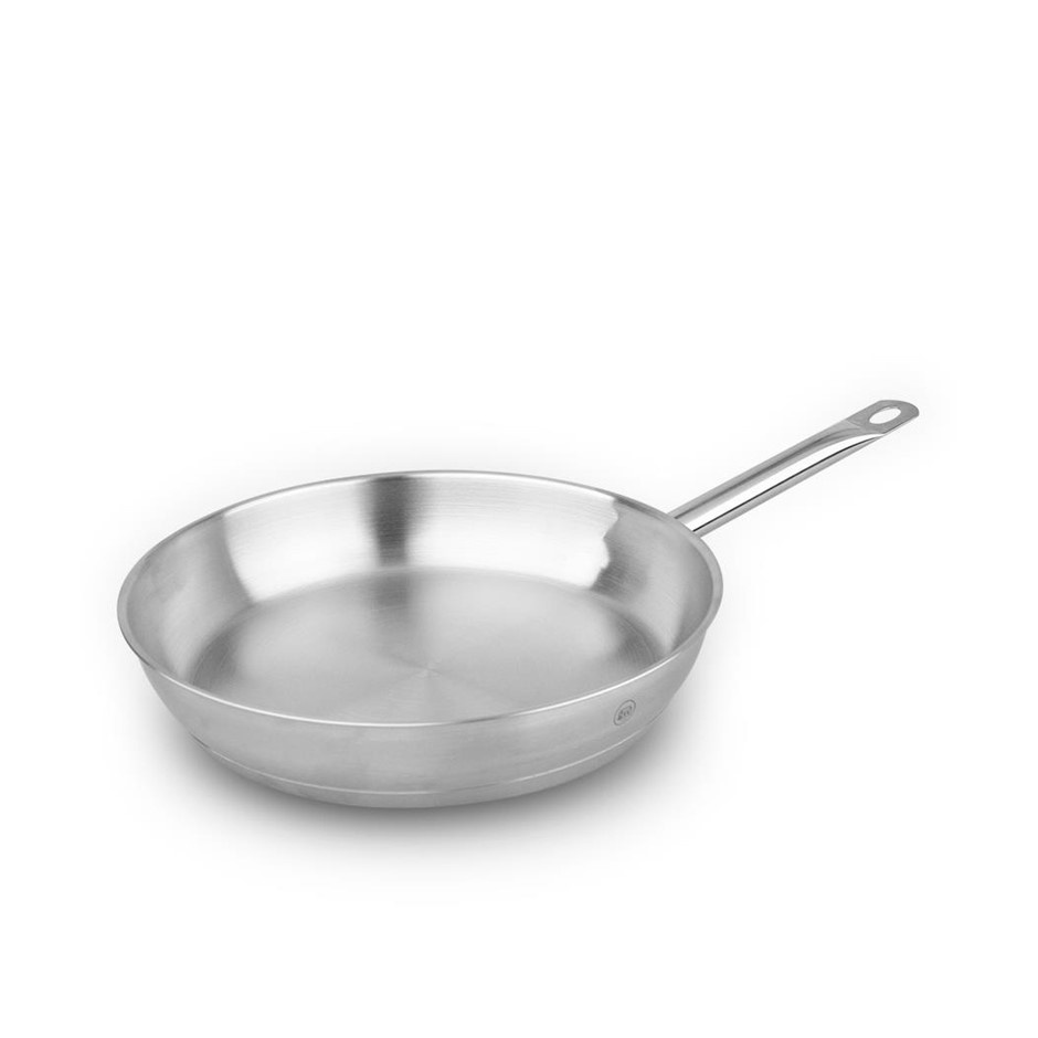 Pro-X 24cm Stainless Steel Frypan Frying Pan Skillet Dishwasher Oven Safe