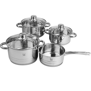 Belm 7pcs SS Cookware Set Pot Saucepan C