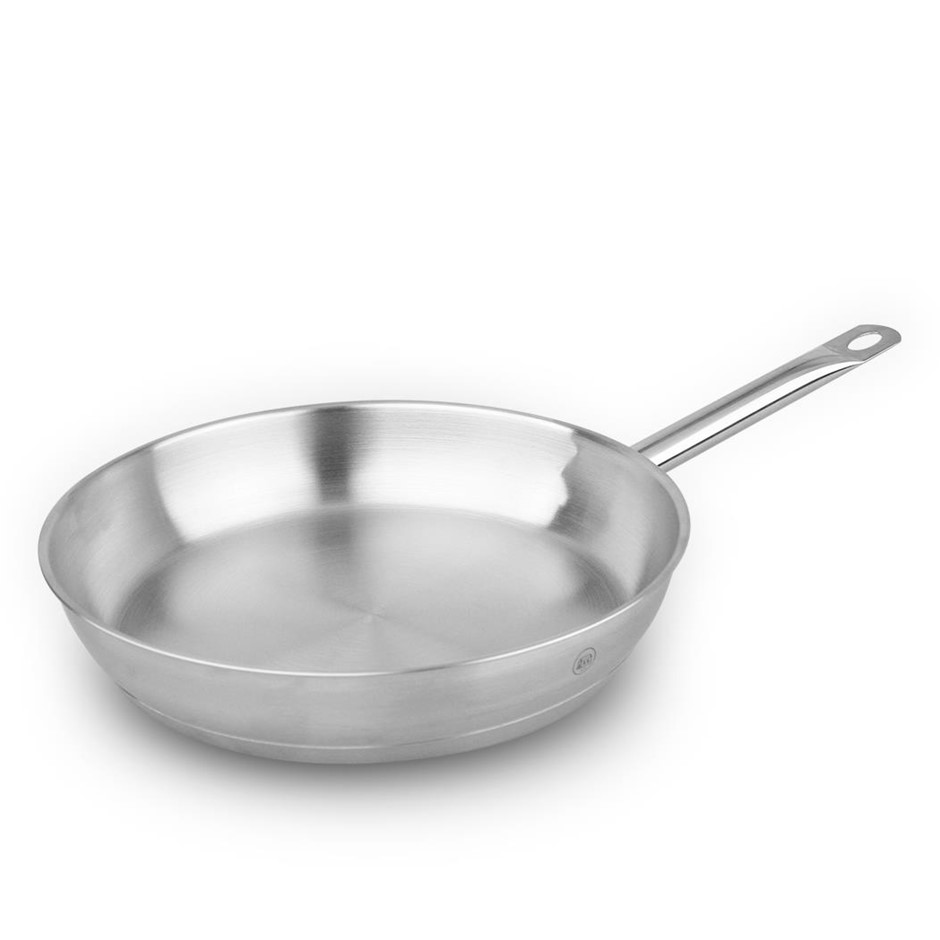 Pro-X 30cm SS Frypan Frying Pan Skillet Dishwasher Oven Safe Cookwa