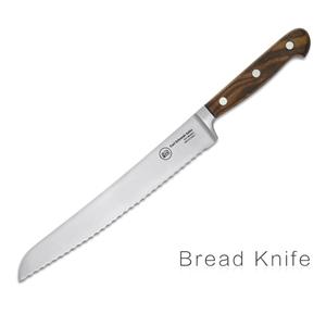 Tessin Kitchen Bread Knife Walnut Handle