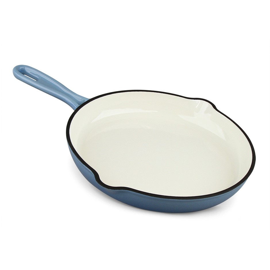 Xanten 26cm Cast Iron Skillet Frying Fry Pan Enameled Chef n Grill Oven