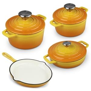 Xanten 7pc Cast Iron Cookware Set Frying