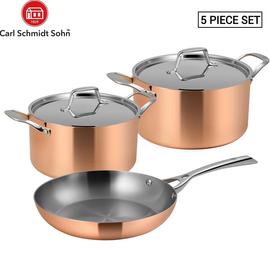 Lassani Tri-ply Copper 5 Cookware Frypan 26cm