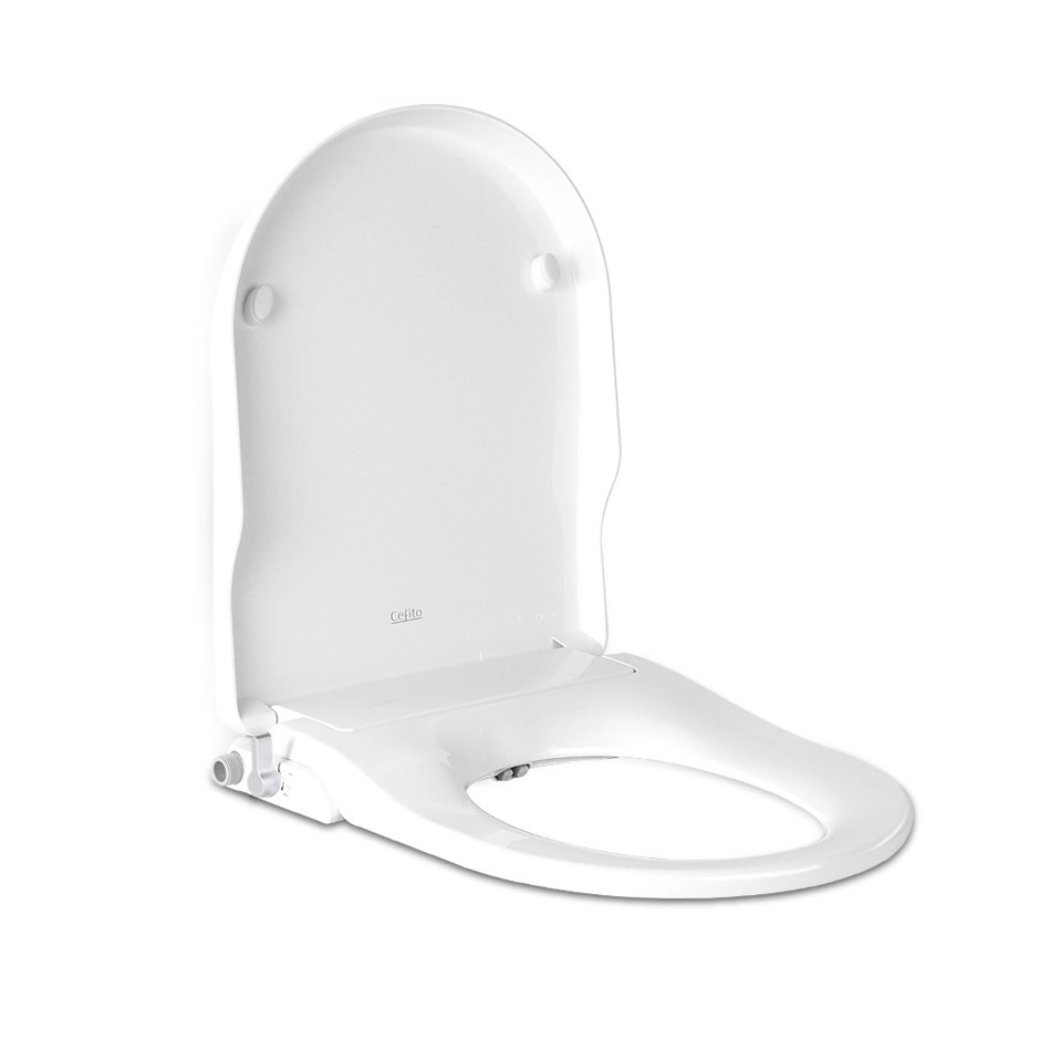 Non Electric Bathroom Bidet Toilet Seat - White