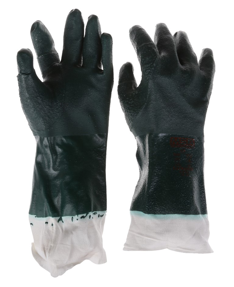 20 x MSA Litegrip Coated 27cm PVC Industrial Gloves, Size XL with Reinforce