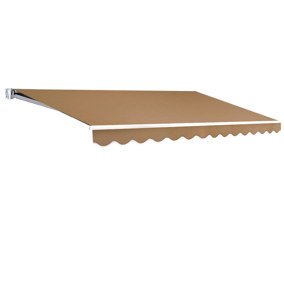 Instahut 4M x 2.5M Outdoor Folding Arm Awning - Beige