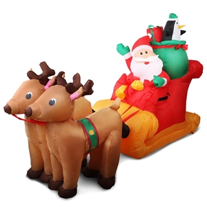 Jingle Jollys Inflatable Santa Sleigh Ri