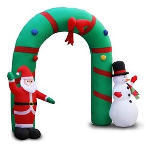 Jingle Jollys Inflatable Sanata and Snow