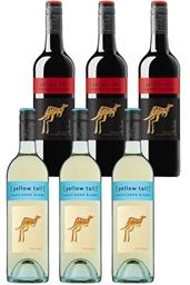 Yellowtail Sauvignon Blanc & Cabernet Sauvignon Mixed Pack (6 x 750mL), SEA