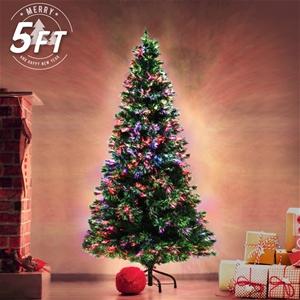 5Ft 150cm Fibre Optic LED Christmas Tree