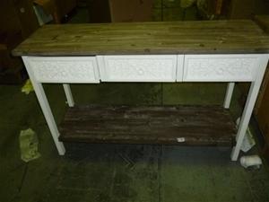 1 X Shabby Chic Console Table Auction 2086 3002175 Graysonline