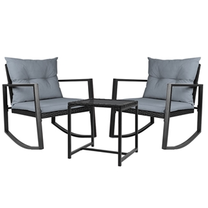 Gardeon Outdoor Rocking Chair and Table