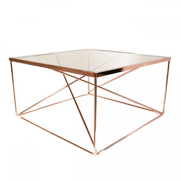 2 x Adira Coffee Table-Rose Gold RRP$499.00