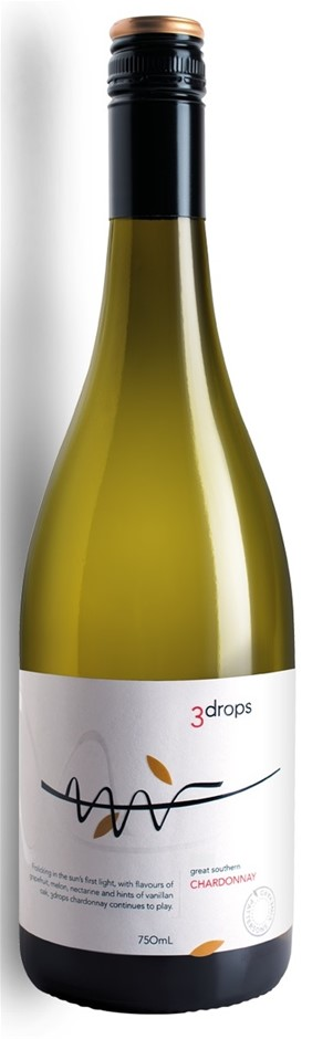 3 Drops Chardonnay 2018 (12 x 750mL), Great Southern, WA.