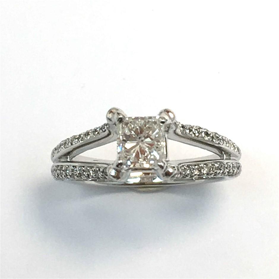 18ct White Gold, 1.35ct Diamond Engagement Ring