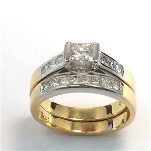 18ct Yellow Gold White Gold 1 12ct Diamond Engagement Ring Set Auction 0003 2525890 Graysonline Australia