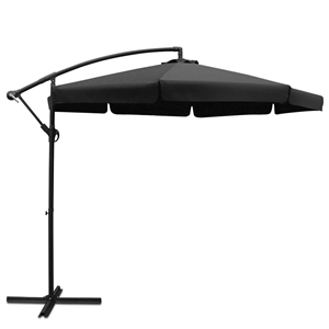 Instahut 3M Outdoor Umbrella - Black
