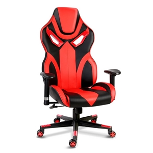 PU Leather Gaming Style Desk Chair - Bla