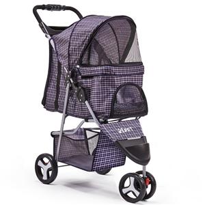 i.Pet 3 Wheel Pet Stroller - Blue
