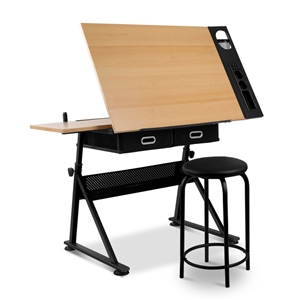 Artiss Tilt Drafting Table Stool Set - N