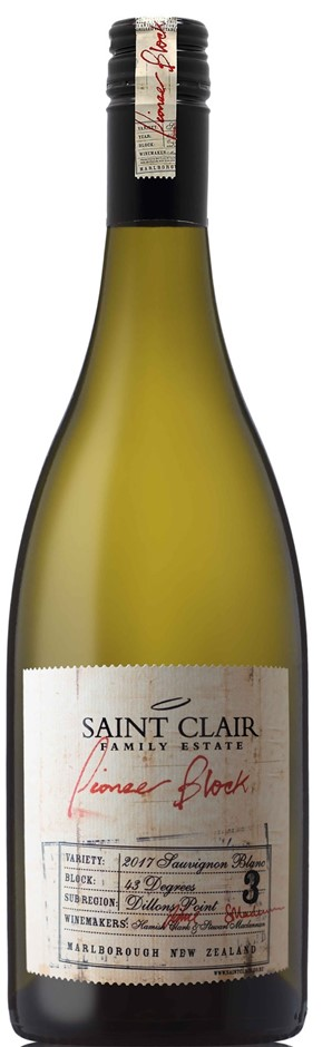 Saint Clair Pioneer Block 3 43 Degrees Sauvignon Blanc 2018 (12 x 750mL),NZ