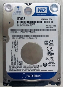 WD Blue 500GB HDD 5400rpm (Part No: 5H20
